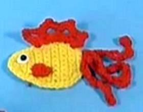 Аплікація гачком золота рибка-. Майстер клас фото