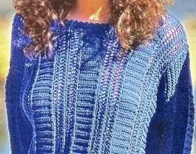 Ажурний пуловер спицями фото