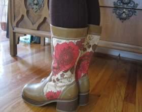 Декор взуття - як оновити чоботи фото