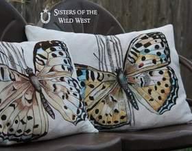 Декор подушок | розпис по тканині акриловими фарбами фото