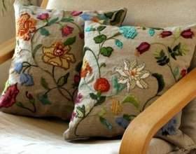 """Декоративні подушки з вишивкою - красиві ідеї С""""РѕС'Рѕ"""