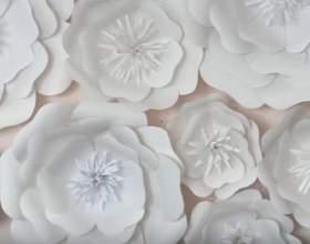 Гігантські квіти з паперу майстер-клас фото