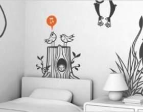 Інтер`єр дитячої своїми руками - розпис стін фото