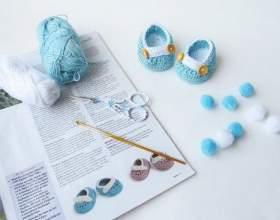 Як зв`язати пінетки гачком для новонароджених фото
