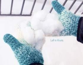 Як зв`язати рукавиці гачком? фото