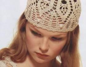 Літня жіноча шапочка гачком фото