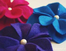 Майстер-клас квітів з фетру від joy фото