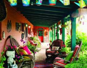 Мексиканський декор тераси фото