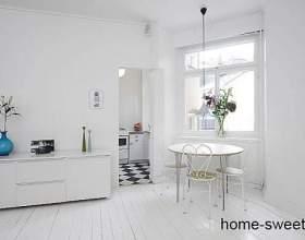 Мінімалізм - квартира-студія в білому кольорі фото