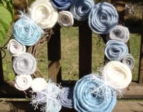 Новорічний декор з фетру - майстер клас фото