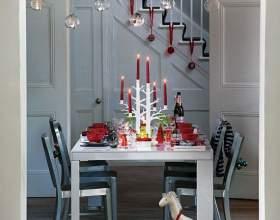 Святкове декорування столу фото