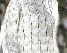 Пуловер з зигзагоподібним візерунком фото