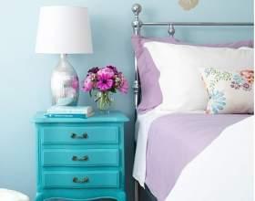 Спальня в бірюзовому кольорі фото