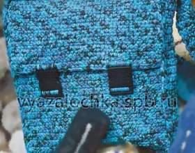 Сумка-портфель гачком фото