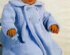 `Язані спицями пальто дитяче. Схеми і опис фото