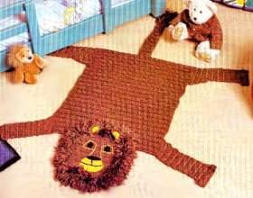 В`язаний килимок гачком в дитячу фото