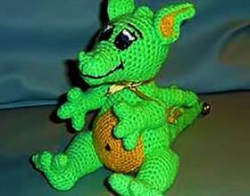 Зелений дракон гачком фото